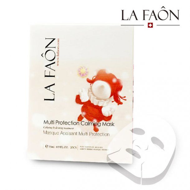 Multi Protection Calming Sheet Mask for  irritert og sensitiv hud
